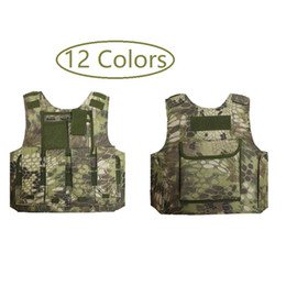 Discount army combat uniform Kids Camouflage Hunting Clothes CS Combat Equipment Tactical Army Vest Children Cosplay Costume Sniper Uniform