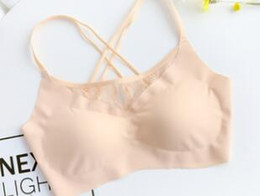 Bras Direct Australia - Factory direct sale no trace lace beauty back no steel ring underwear ice silk sleep girl yoga bra