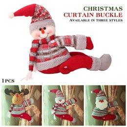 Cloth bandages online shopping - Curtain Tieback Lovely Christmas Cloth Art Bandage DIY Curtain Hooks Window Hanging Buckle