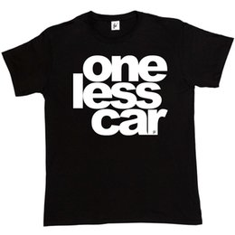 Wholesale One Less Car Environment Cycling Cyclist Bike Gift Present Birthday Mens T Shirt Classic Quality High t shirt