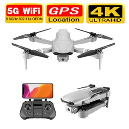 video rc UK - Drone 4k F3 drone GPS 4K 5G WiFi live video FPV quadrotor flight 25 minute rc distance 500m drone HD wide-angle dual camera dron T200420