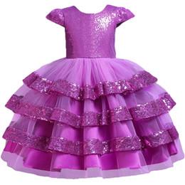 $enCountryForm.capitalKeyWord Australia - Pegeant Sequined Backless Kids Dresses For Girls Wedding Party Princess Dresses Baby Girls First Communion Layered Tutu Dresses MX190724