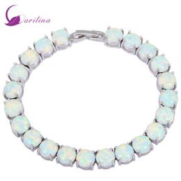 $enCountryForm.capitalKeyWord Australia - Glam Luxe Mysterious Silver White Fire Opal Bracelets & Bangles For Teen Girls Pulseiras Femininas Jewelery Woman Wedding B434 J190722