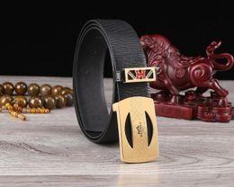 $enCountryForm.capitalKeyWord Australia - Cowhide black brown crocodile pattern corrosion carved steel buckle official website synchronous fashion trend packageage