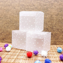 clear candy packaging NZ - 10pcs PVC Square Transparent Clear Dot Candy Box Chocolate Package Gift Box Cube For Wedding Birthday Christmas Party Decor