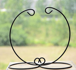 Oil Stick Art Australia - Iron Wedding Candle Holder Moroccan Candlestick Glass Ball Hanging Bracket Stand
