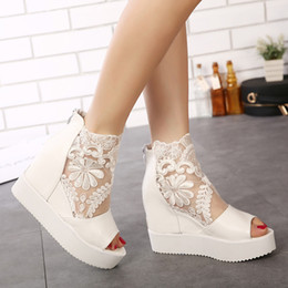 $enCountryForm.capitalKeyWord Australia - 2019 Cool Boots Slope With Sandals Lace Muffin Thick Bottom Fish Mouth High With Women's Shoes