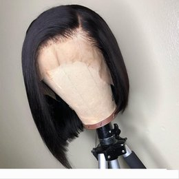 360 Human Hair Lace Front wigss Short Bob Straight Brazilian Virgin Human Hair 360 Lacefront wigs With Bleached Knots