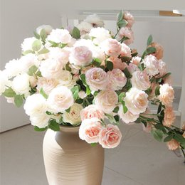 $enCountryForm.capitalKeyWord Australia - New Artificial Peony Branch Fleur Artificielle Rose Flores For Wedding Road, Arch Decoration Silk Cheap Fake Flowers Wholesale