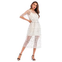 $enCountryForm.capitalKeyWord Australia - in stock Summer Fresh Thin White Dresses with Flowers Embroidery Print Beauty Girl Dress Two Piece Sets Gauze Slip Dress