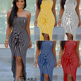 $enCountryForm.capitalKeyWord Australia - Summer Women's Strapless Maxi Long Dress Striped Strapless Beach Sundress Sleeveless Sexy Women Girls Clothes Dresses