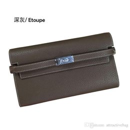 $enCountryForm.capitalKeyWord UK - Charm2019 Imported Head Layer TOGO Kelly Wallet Cowhide Cortex Thick Soft Feel Fine Grain Long Paragraph Hand Take Package