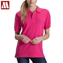 Polo Blue Navy NZ - Women Men Unisex Cotton Plain Solid Black Blue Navy Red Polo Shirt Ladies Short Sleeve No Printing Polo Shirt S-3XL Shirts Tops