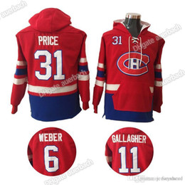 montreal sweatshirt Australia - MENS Montreal Canadiens 31 Carey Price 6 Shea Weber 11 Brendan Gallagher hockey Jerseys Hat Hockey Hoodie Hooded Sweatshirt wholesale