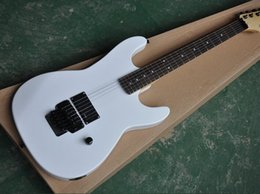 floyd rose guitar body UK - free shipping Factory custom White body Electric Guitar with Floyd rose,Black hardware,offer customized
