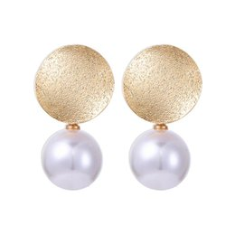 $enCountryForm.capitalKeyWord UK - New Fashion Pearl Dangle Earrings Boho Gold Color Vintage Round Circle Drop Earring For Women Girls Gifts