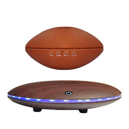 sound design audio UK - Smart Bluetooth speakers Rugby style magnetic suspension design bass 360° stereo surround sound TWS Internet technology HD call LED light