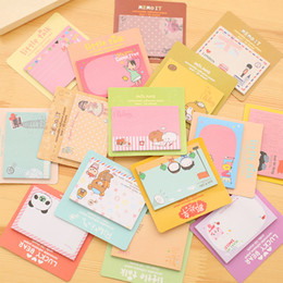 leaf post notes NZ - T South Korea Stationery Cute Post-it Notes Cartoon Creative Sticky Note South Korea N Posts Customizable logo