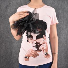 $enCountryForm.capitalKeyWord Australia - 2016 Fashionable Europe Style Female Short Sleeve Tops Tees 3d Applique Girl Print Chemise Cotton T-shirt Slim Size S-xl Y19072001