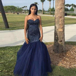 EvEning gowns fast shipping online shopping - 2020 Sexy Sweetheart Evening Dress Beaded Tulle Elegant Floor Length Fast Shipping Evening Dresses Prom Gowns Robe de soiree