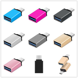 Wholesale Metal Adapter Converter USB 3.1 Type C OTG Adapter Male to USB 3.0 Female Converter otg adaptor for samsung android phone