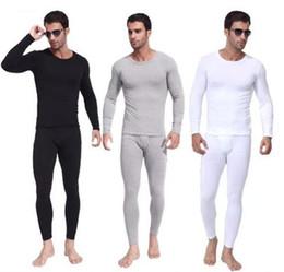 $enCountryForm.capitalKeyWord NZ - Flush thickening Men's thermal underwear men long winter shirt + pants suit classic round neck warm thickening plus velvet large size M-XXL