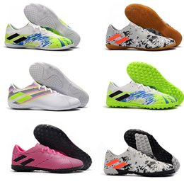 cream lace slip NZ - 2019 newest in stock Mens Messi Nemeziz 19.1 FG Nemeziz 19.4 TF IC Slip-On Soccer Shoes waterp roofFootball Low Ankle Outdoor Boots Cleats