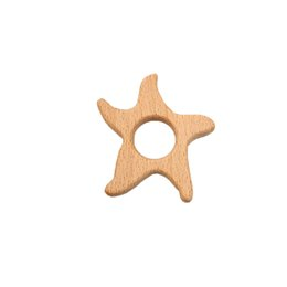 $enCountryForm.capitalKeyWord Australia - 4pcs Beech Wooden Starfish Teether Animal Shaped Baby Teethers Infants Teething Toys Baby Accessories For Baby Necklace Making