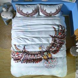 $enCountryForm.capitalKeyWord Australia - National Style Eagle Bedding Set Single Double King Size 2 3pcs cartoon for kids Duvet Cover Set colourful Bedding Supplies