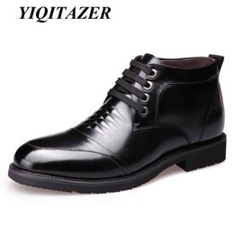 Genuine Leather Insole Australia - YIQITAZER 2018 Winter Casual Man Shoes Leather Nature Wool Insoles,Winter Warm Work Lace up Genuine Leather Plush Shoes Man #194877