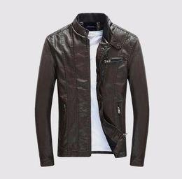 Mens Faux Fur Lining Jacket NZ - Mens PU Coats Motorcycle Biker Faux Leather Jacket Men Autumn Winter Clothes Male Classic Thick Velvet Coat