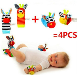 $enCountryForm.capitalKeyWord Australia - 2017 Infant baby toys bebe rattles socks 4 pcs set can make sound cute toy for baby boy and girl kids toy gift