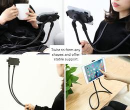 Adjustable Metal Stand For Tablet Australia - Lazy Neck Phone Holder, Hang on Neck Adjustable Tablet Stand 360 Rotation Long Metal Arm Bracket