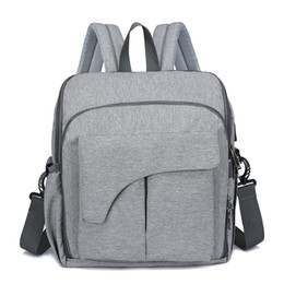 China HOT Sale Authentic Mommy Diaper Bags Mother Large Capacity Travel Nappy Backpacks with anti-loss zipper Baby Nursing Mummy Bags cheap baby backpacks sale suppliers