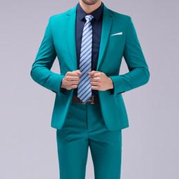 $enCountryForm.capitalKeyWord Australia - Dressing a button suit suit wedding boyfriend fashion slim men's purple men's tuxedo jacket men (coat + pants + vest)