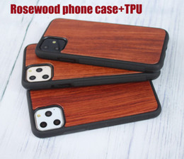 dark wood iphone case NZ - Luxury Unique design engraving rose wood phone case for iphone 11 mobile phone cover for iphone x