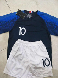 China 2 stars 2018 world cup#10 MBAPPE home Soccer Jersey #7 GRIEZMANN #6 POGBA away white Soccer Shirt 2018 world cup #13 KANTE football Uniform suppliers