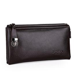 Black Mobile Packaging UK - Pop2019 Man Foreskin Take Soft Leather Small Wallet Hand Catch Mobile Phone Bag Tide Business Affairs Male Package