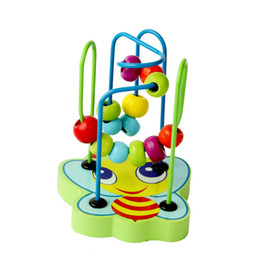 teaching aids for year UK - Montessori Educational Wooden Toys for Children Early Learning Wood Circles Bead Wire Maze Roller Coaster Math Toys Teaching Aid