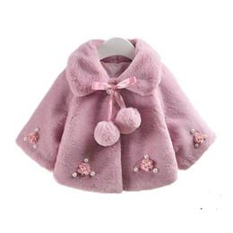Little Kids Jackets Australia - Winter Little Girls Jackets Faux Fur Snowsuit Baby Coat Kids Clothes Poncho Children Clothing Girl Outerwear Winterjas Meisjes
