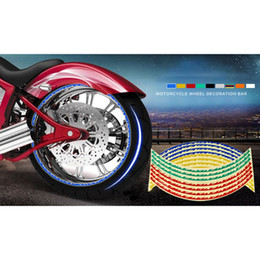 Wheels stickers online shopping - 2 Reflective Safety Warning Signs Tape Stickers Strong Adhesive Waterproof High Visibility For in Wheel Motorcycles