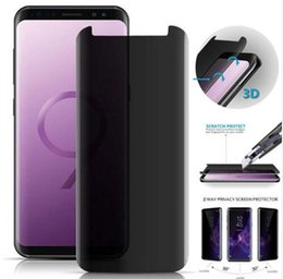 Discount screen protect 3d - 3D Curved Privacy Tempered Glass For Samsung Galaxy S9 S8 Plus Note 8 9 Protect Anti Spy Screen Protector Guard Film Ful