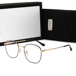 $enCountryForm.capitalKeyWord UK - Hot Brand Men's Sunglasses Adumbral Luxury Glasses with Full Frame for Men Women Plain Designer Sunglasses Anti- Blue Light Glass with Box