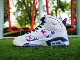 Shoes Oil Australia - Retro Big Kid boy shoes girls Lady 6 VI Tie-dyed Oil Painting Color Basketball Shoes women Trainers 6s Jumpman Sneakers Shoe Size us 5.5-8.5