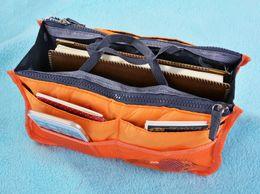Cosmetic Bag Insert Liners NZ - Organizer Insert Bag Women Nylon Travel Insert Organizer Handbag Purse Large liner Lady Makeup Cosmetic Bag Cheap Female Tote