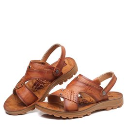 $enCountryForm.capitalKeyWord Australia - New genuine leather mens sandals slippery and breathable sneakers sandals and sandals one hair substitute