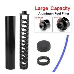 Großhandel 10inch 6inch Auto Kraftstofffilter 1 / 2-28 oder 5 / 8-24 Auto Solvent Falle für NAPA 4003 WIX 24003 Aluminium
