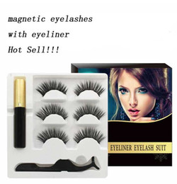 $enCountryForm.capitalKeyWord Australia - Wholesale 5 Magnet Eyelash Magnetic Liquid Eyeliner Magnetic False Eyelashes Tweezer Set Eyelash Extension Tools Long Lasting Waterproof