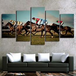 $enCountryForm.capitalKeyWord Australia - Horse Racing ,5 Pieces Home Decor HD Printed Modern Art Painting on Canvas (Unframed Framed)