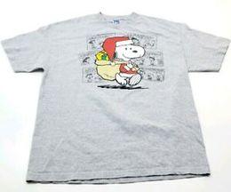 Snoopy Shirts Australia - Peanuts Charlie Brown Snoopy Graphic Gray Christmas Mens T-Shirt XL